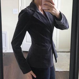 Halogen gray grey velvet blazer